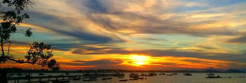 Onde o pôr do sol dá show