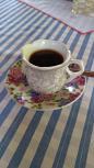 Na hora do café uma vista exuberante