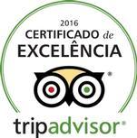 Certificado de Excelência da TripAdvisor.