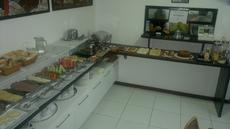 Vista do buffet do caf� da manh�