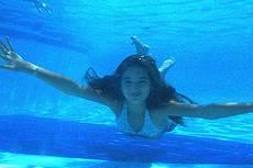 Picina com opcao de foto sub-aquatica