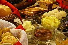 Delícias do café da manhã da pousada