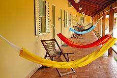 Varanda compartilhada dos apartamentos Cabreúva.