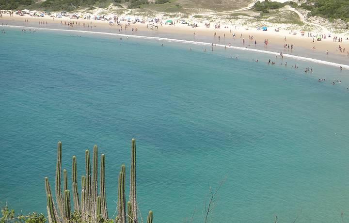 Vista da praia das Conchas