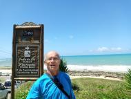 Placa indicativa para a praia do Giz