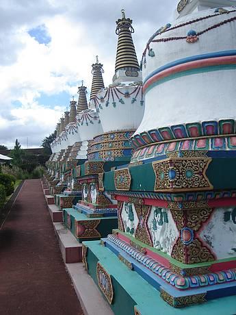 Representação dos deuses budistas