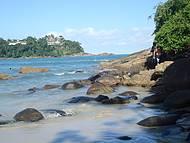 linda paisagem! Esse é o canto direito da praia do tenório