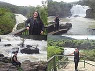 Eu na cachoeira.