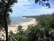 Vista do alto (chegada à praia do espelho)