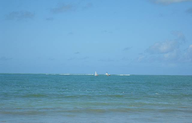 O azul do mar e do céu. Lindo!