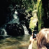 Cachoeira no caminho do Tour Experience