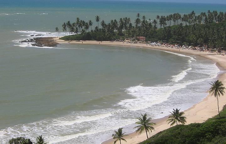Praia de Coqueirinho visto do alto