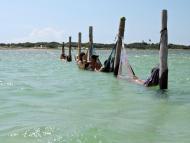 Redes nas águas das Lagoas de Jeri