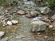 Rio de água cristalina.