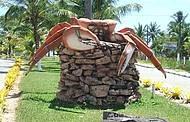 Crustáceo tem até monumento!