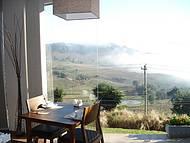 Vista de dentro da sala de café da manhã