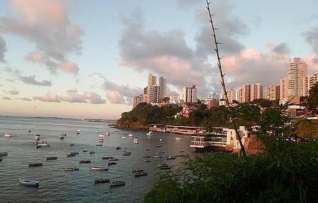 Entardecer em Salvador