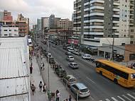 Vista da avenida principal