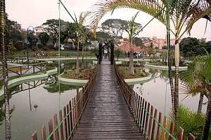 Parque Catarina Scarparo D'Agostini: Área é interligada ao Espaço Chico Mendes por um túnel -