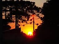 Um belo pôr do sol