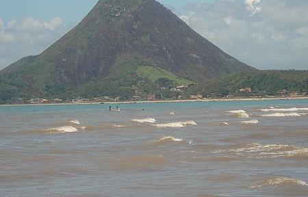 Vista do Monte Aghá - Praia na Av. Beira Mar