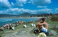 Praia da Vila � cen�rio de campeonatos de surf