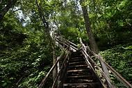 Escadaria que leva à dolina exige esforço