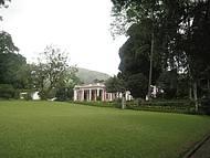 O lindo jardim do museu imperial