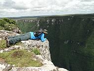 Paredão de pedra com 970m de altura. Assustador!