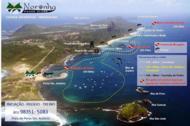 Mapa apresenta roteiros e pontos de mergulho