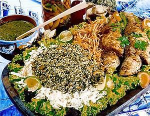 Onde Comer - Arroz-de-cuxá e peixe frito - combinação perfeita!
