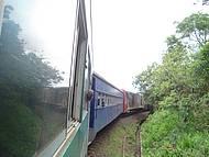 Visão lado externo do trem