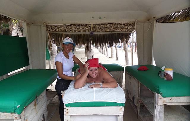 Nada como uma boa massagem a Beira Mar
