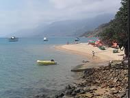 Praia próxima à Ilha das Cabras