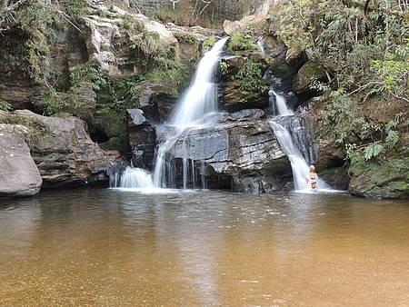 Cachoeira da Eubiose - Poço é perfeito para banhos