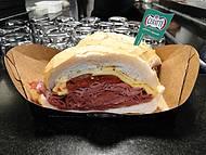 Este é o sanduiche de mortadela c/provolone e tomate seco