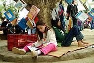 Flipinha atrai pequenos leitores