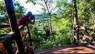 Adrenalina ao longo dos 700 metros de tirolesa