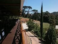 varanda onde almo�amos no Restaurante Jardins