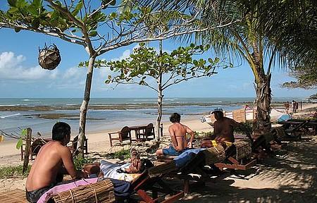 Praia do Espelho - No paraíso e com espreguiçadeiras