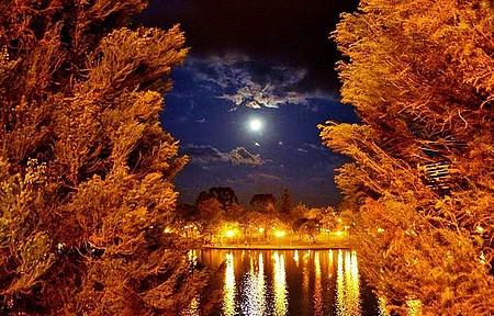 Lagoa das Lágrimas - Noite de luar na Lagoa de Guarapuava