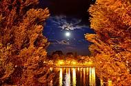 Noite de luar na Lagoa de Guarapuava