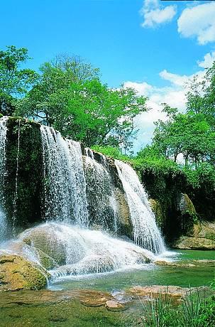 As águas do rio Mimoso formam belíssimas quedas