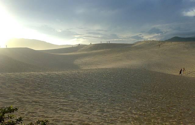 Fim de tarde nas dunas de Joaquina