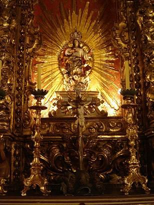 Altar co-lateral de Nossa Senhora da Assunção