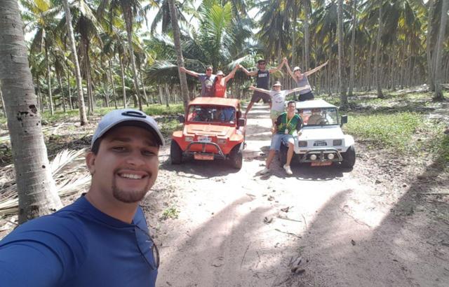 Plantação de cocos no litoral norte