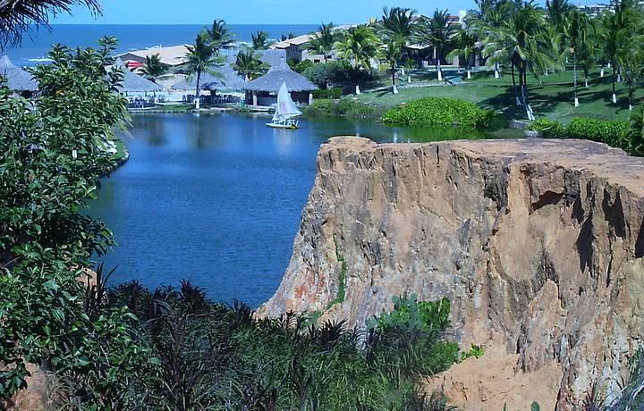 Parte interna das falésias - Praia Morro Branco