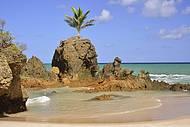Marco indica oinício da praia dos naturistas