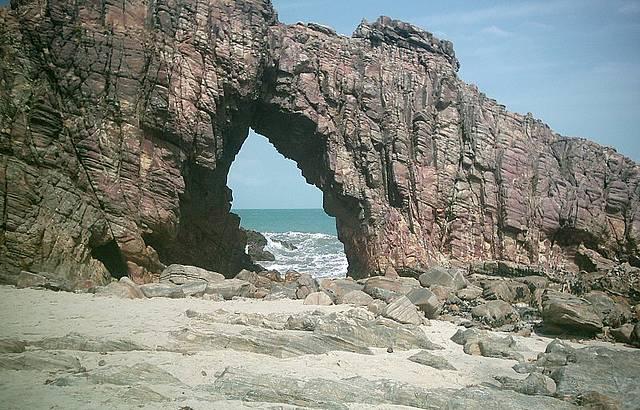 Vista da pedra furada em Jericoacoara