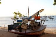 Praia de Mucuripe e suas jangadas de pescadores